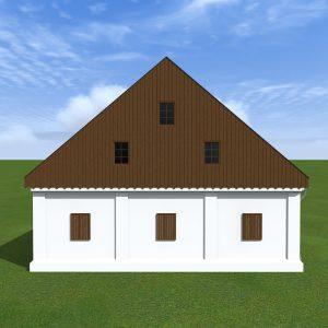 Návrh fasády stodoly Šternberk (Dalov)